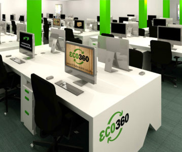 We supply and install ECO360® cardboard desks!