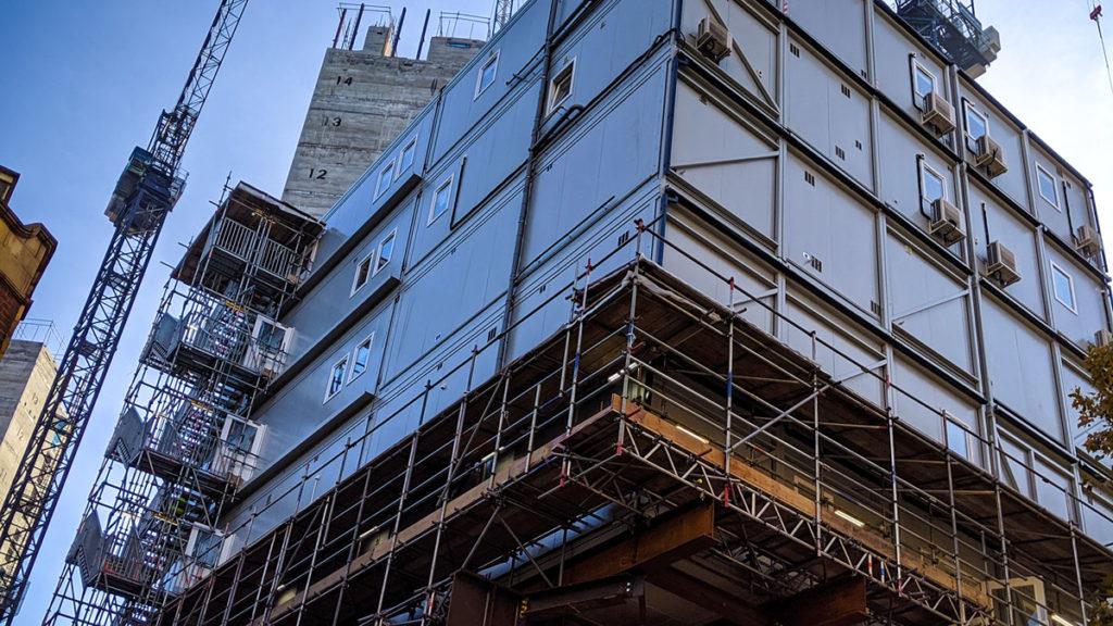 multiplex-broadway-canteen-site-london-construction-modular-gantry-raised