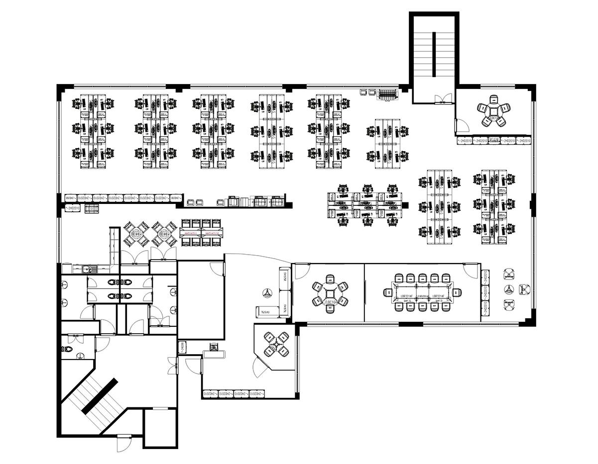 office-design-plan-outline-sketch-drawing